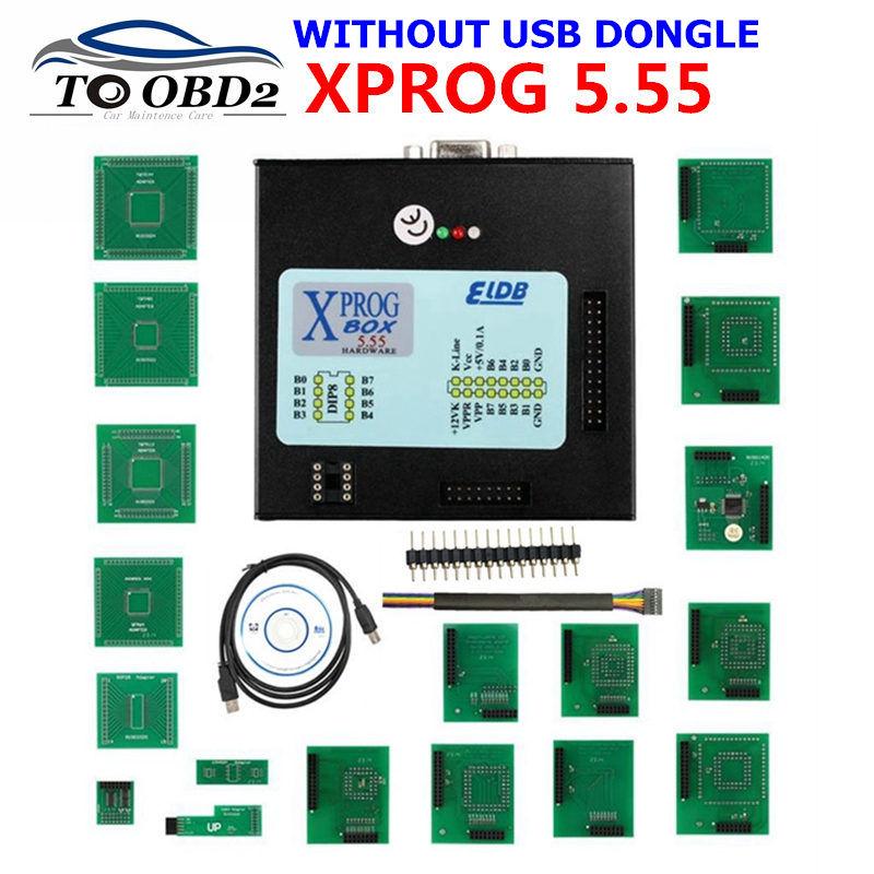 Best Quality V5.55 XPROG-M Full Adapter Auto ECU Chip Tuning Programming Xprog M 5.55 Metal Box AUTH-0025 Authorized X-PROG