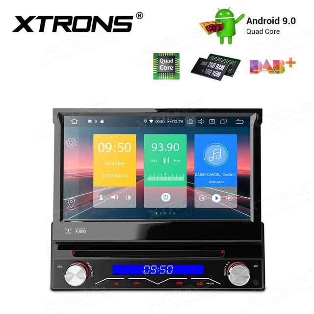 Universal 7'' Android 9.0 One 1 Din Radio Car Stereo multimedia Player WIFI OBD2 DAB+1080P GPS Navigation Steering Wheel NO DVD image