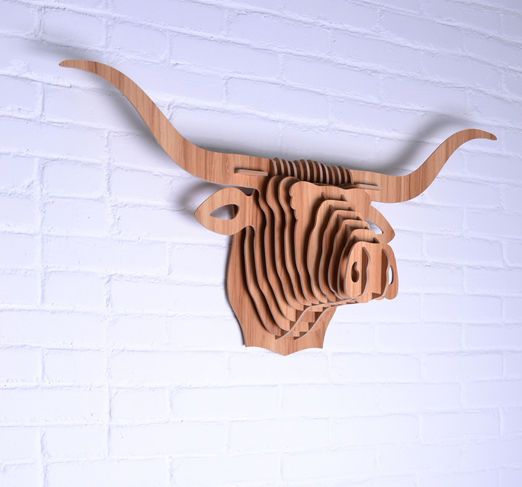 African Buffalo Head Wall Decor Bull Art High Quality Wooden Decoration Wood Carving Craft Free Shipping In Statues Sculptures