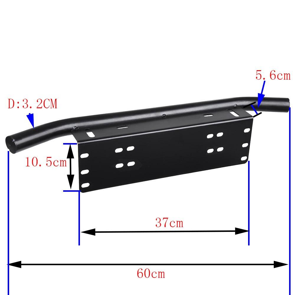 Black Steel Bracket for led light bar Drivinglight worklight Front License Plate Mount Holder for Offroad SUV ATV UTV