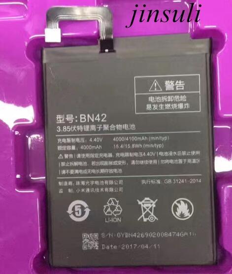 BN42 Battery For Xiaomi Redmi 4 (2G RAM 16G ROM Edition) For Xiao mi Hongmi 4 Bateria Batterij Accumulator 4000/4100mAh