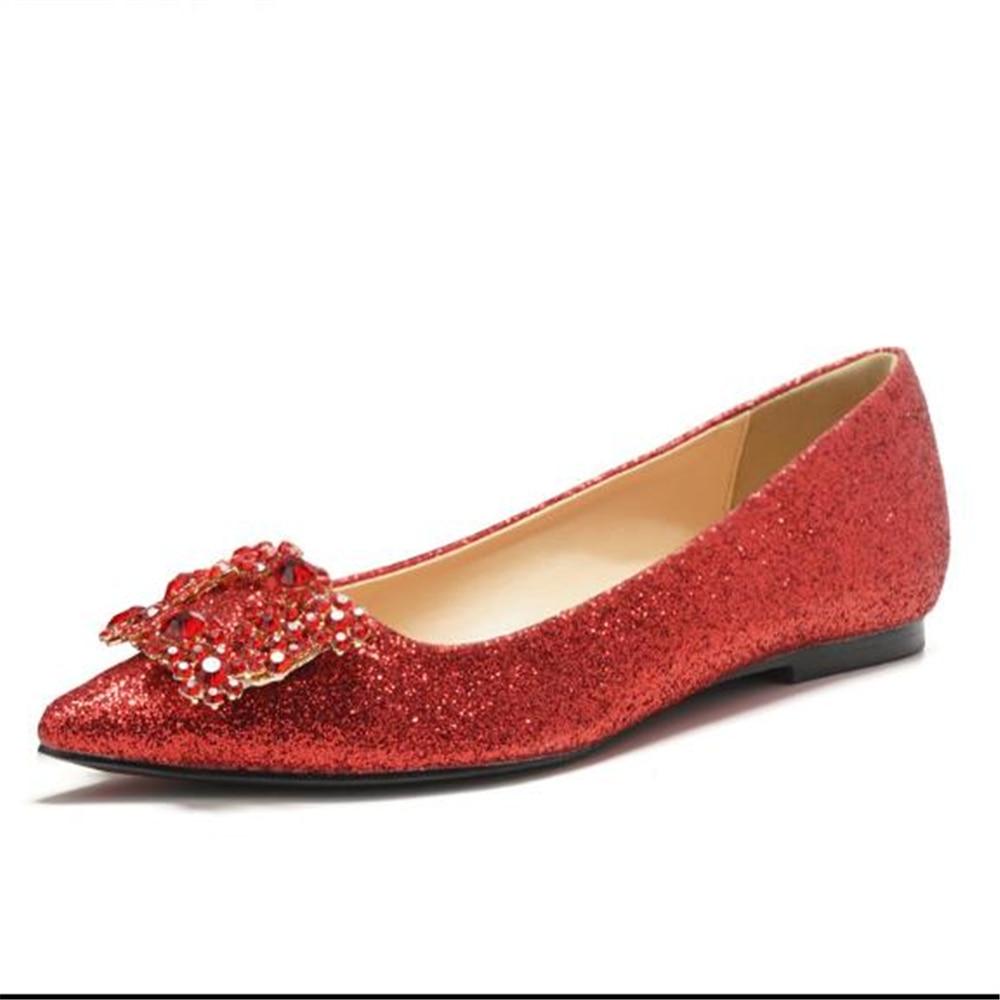 Angepasst 2019 Neue Frühling Rot Braut Hochzeit Schuhe Damen Flache Bequeme Langen, Spitzen Schwangere Frauen Schuhe Europäischen Stil Lange Lebensdauer