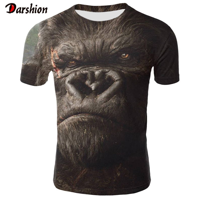 3D Orangutan T Shirt Men/Women Newest Animal 3D T Shirt Monkey Short Sleeve Male Summer Tops Tees 4XL Tshirt Camiseta Masculina