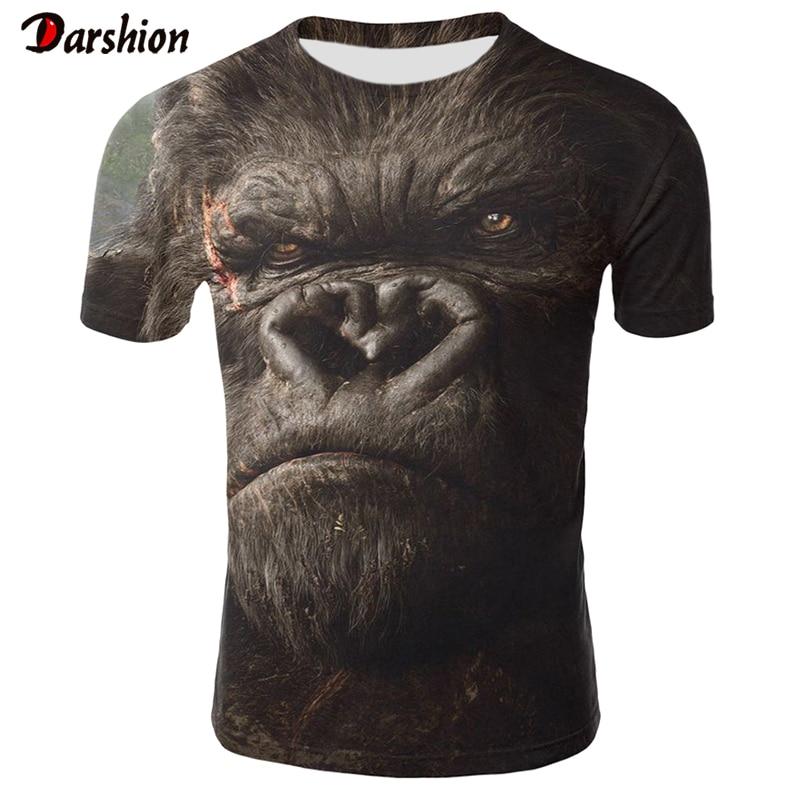 3D Orangutan   T     Shirt   For Women/Men Newest Animal 3D   T     Shirt   Short Sleeve 3D Monkey Summer Tops Tees 4XL Tshirt Drop Ship