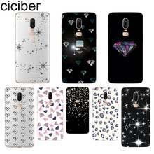 ciciber Fashion Diamond Phone Case For Oneplus 7 Pro 6 5 T Soft TPU Back Cover Clear Coque for 1+7 Pro 1+ 6 1+5 T Fundas Shell