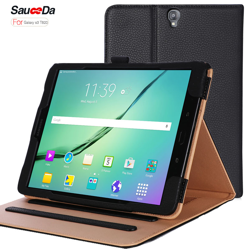 купить Case for samsung galaxy Tab S3 9.7 T820 T825 Smart Stand luxry PU Leather flip Cover for galaxy Tab S3 Protective Skin shell new недорого
