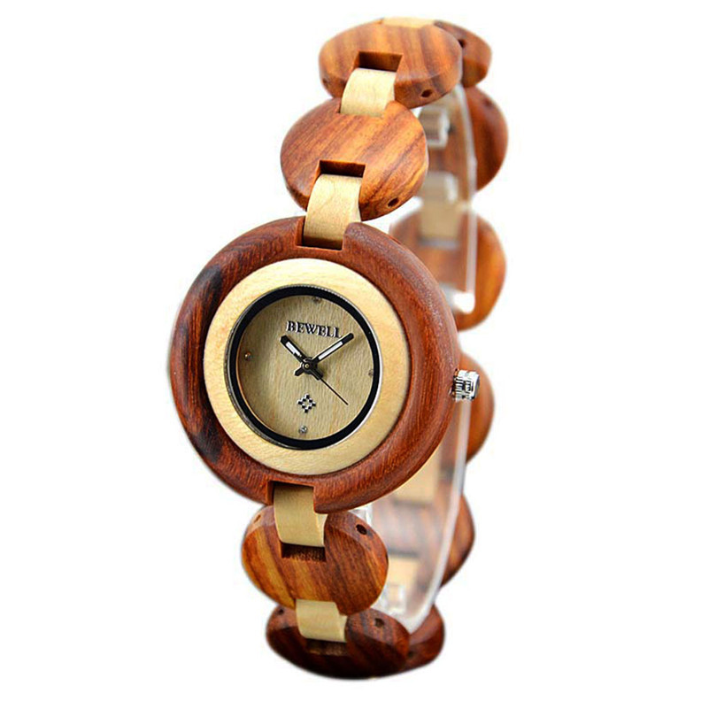 Watch Women Elegant Retro Watches Fashion Casual Top Brand Luxury Quartz Bracelet Clock Female Wood Ladies Wrist Watches