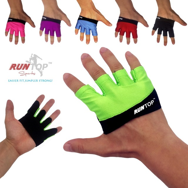 RUNTOP Women Workout Gloves Crossfit WODS Fitness GYM Yoga Exercise Weight Lifting Powerlifting Training Hand Grips Palm Protect