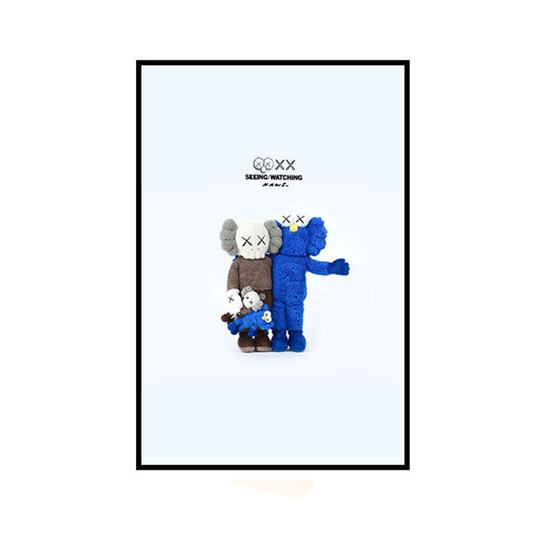 30CM X 40CM KAWS SEEING/WATCHING PLUSH BFF XX Companion Gallery Art Canvas Pop Contemporary Picture for Living Room Blank Wall30CM X 40CM KAWS SEEING/WATCHING PLUSH BFF XX Companion Gallery Art Canvas Pop Contemporary Picture for Living Room Blank Wall