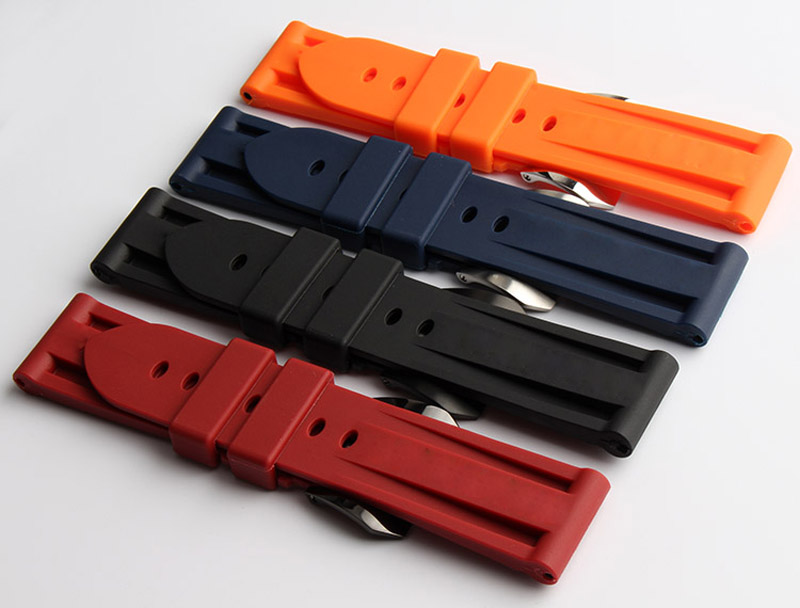 Watch Accessories For use with Panerai PAM00362 PAM00233 PAM00024 silicone rubber waterproof Watch strap with 22 | 24mm все цены