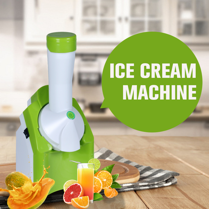 Automatic Fruit Ice Cream Maker Household Mini Electric Dondurma Makinesi For Child DIY IceCream machine Maquina De Sorvete edtid 12kgs 24h portable automatic ice maker household bullet round ice make machine for family bar coffee shop eu us uk plug
