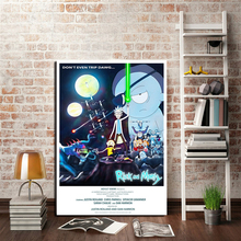 Rick And Morty Star Wars Wall Art Canvas Poster Print Painting Oil Decorative Picture For Bedroom Home Decor Artwork