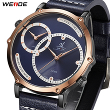 WEIDE New Fashion Mens Model Militray Sports Quartz Men Watch Leather Belt Strap Waterproof Male Wristwatches Relogio Masculino цена