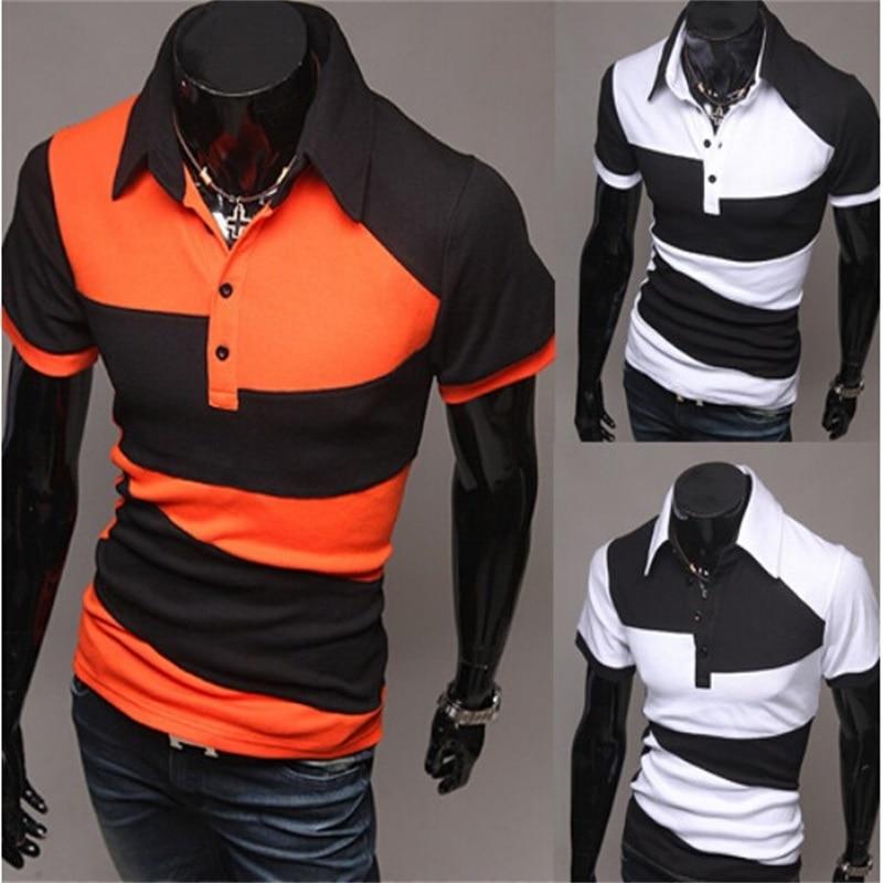 Breathable POLO Shirt Leisure Mens Shirt Short-Sleeve Golf Shirts