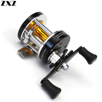 Copper Aluminum Alloy Right Hand Spinning Trolling High Speed 3.8:1 Fishing Reel Boat Reel Multiplier Drum Reels Fish Wheel Tool