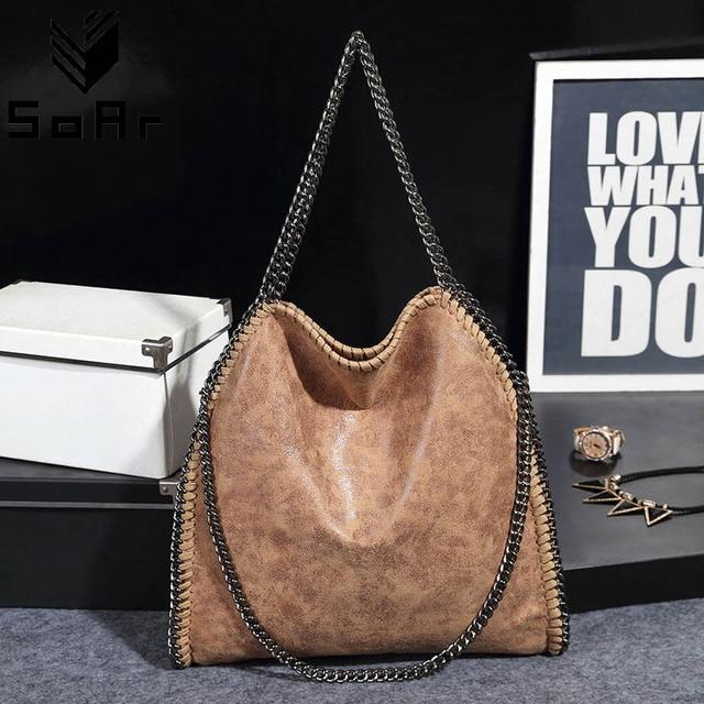 6f29aa7732185 حقائب نسائية 2019 حقيبة يد الأزياء حقائب سلاسل حقيبة كتف بو الجلود كبير  عالية الجودة أعلى