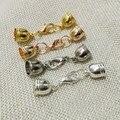 Размер отверстия 8 мм ожерелье кисточкой круглый кожаный шнур обжима заглушки застежкой омар прыжок кольца прекращения Застежка для изготовления ювелирных изделий