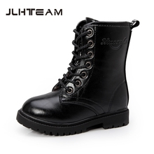 Children Leather Boots Chaussure Enfant Teen Boys Girls Spring Autumn Martin Motorcycle Boots Kids Shoes Army Combat Ankle Boots