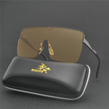 MINCL новые летние Для мужчин очки большие солнцезащитные очки для отдыха очки для защиты от ветра с плоским верхом Квадратные Солнцезащитные очки UV400 с коробкой NX