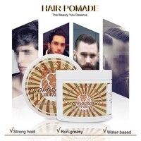 Укладки волос глина грязи для мужчин сильный держать прически с матовой отделкой литья крем продолжительного действия грязи 100 г