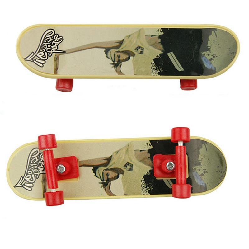 Alloy Mini Finger Skateboard Toy Professional Stents Maple Wooden Fingerboard Finger Skate Board Model BMX Novelty Children Gift