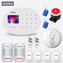 KERUI W20 Senza Fili di GSM 850/900/1800/190 MHZ APP di Controllo wifi Sistema di Allarme di Sicurezza Domestica di Allarme kit con rilevatore di fumo