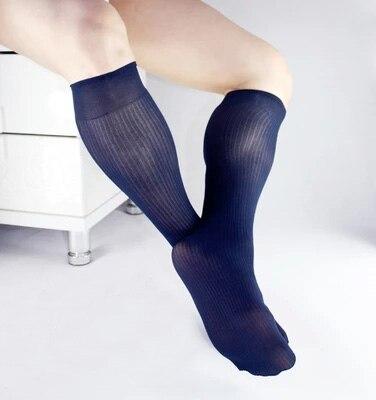 2017 Mens Silk Stockings Deodorant socks formal suit dress hose Sexy Striped sheer Man Gay stripe socks fetish Business socks