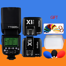 Godx tt685 tt685c E-TTL2.4 g high sync speed wireless 1/8000 trumpet gn60 flash + X1C flip-flop and receiver for Canon dig