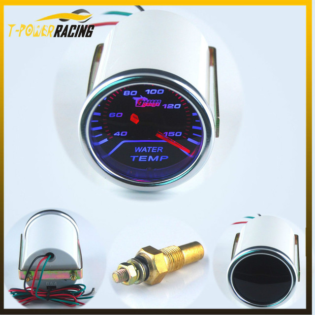 52mm Racing  12V Pointer Smoke Lens  Water Temp Gauge With NPT 1/8  Sensor  For Car Water temperature Auto gauge YC100056