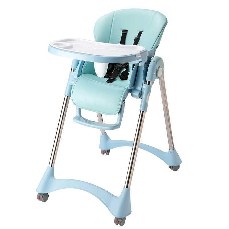 Multi-function Dining Table And Chair Foldable Portable Heightening Portable Baby Child Seat Height Adjustable 5-point Seat Belt