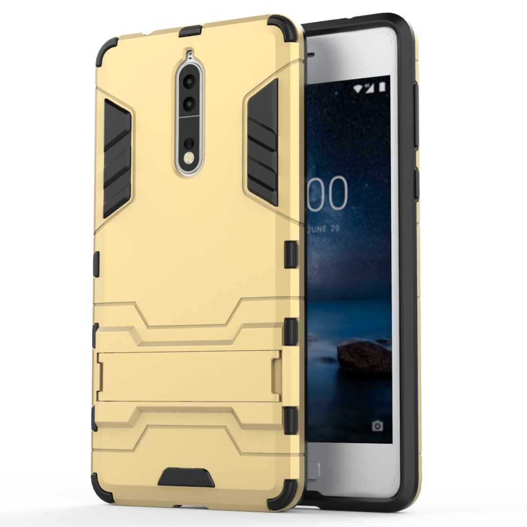 Luxury Kickstand Hybrid 8 Case for Nokia 8 Cover TPU+PC Protective Fundas with holder for Nokia8 5.3inch  case