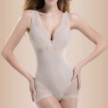 Shapewear Tummy Suit Control Underbust Women Body Shaper Slimming Underwear Vest Bodysuits Jumpsuit Correctiv L-XXL SV003223 1