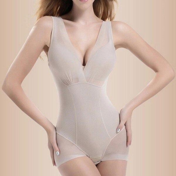 40d48e3a5d353 Shapewear Tummy Suit Control Underbust Women Body Shaper Slimming Underwear  Vest Bodysuits Jumpsuit Correctiv L-XXL SV003223