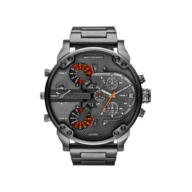 Brand Luxury Big Dial Men Watch Military Watch Sport Business Leather Stainless