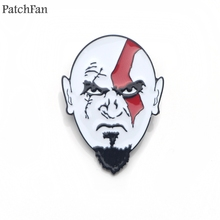 Patchfan God of war Enamel Pins for clothes metal Gift Jewelry para bag shirt hat backpack insignia Brooches Badge for men A1613