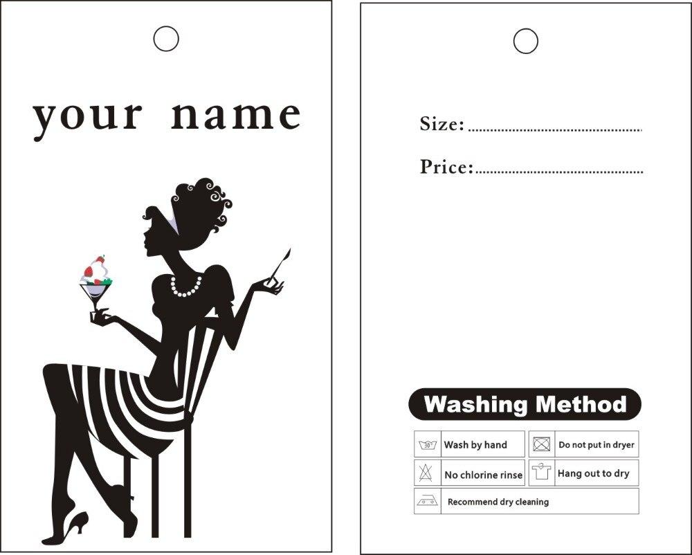 Garment etiquetas colgantes impresión personalizada etiquetas ...