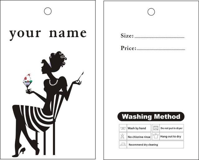 garment hang tags custom print hang tags price label template 030