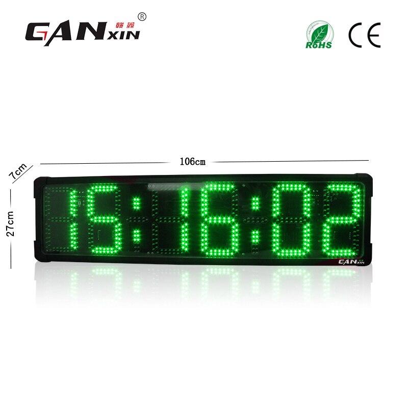 [Ganxin] Grand extérieure course minuterie led horloge de compte à rebours électronique numérique chronomètre sportif minuterie