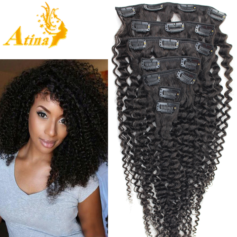 Kinky Curly Clip In Hair Extensions Real Human Hair Cheap Clip Ins