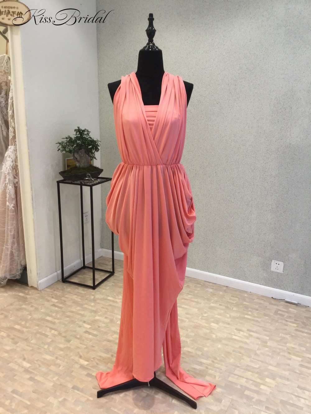 New 2018 Simple   Prom     Dresses   Halter Neck Sleeveless Long Party   Dresses   Vestido de festa