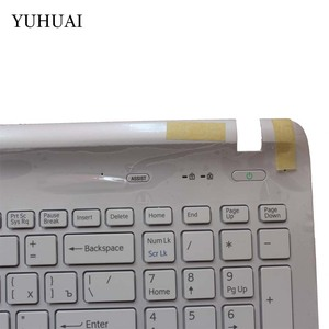 Image 4 - Russian keyboard FOR SONY VAIO SVF152 FIT15 SVF15 SVF153 SVF15E White/black RU Laptop C Shell palmrest cover