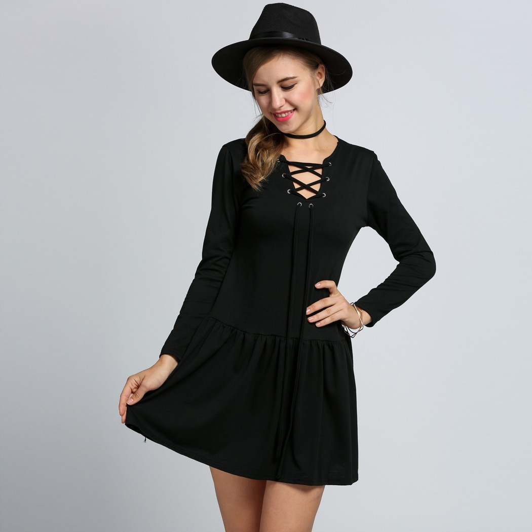 High Quality Long Sleeve Mini Shift Dress Promotion-Shop for High ...