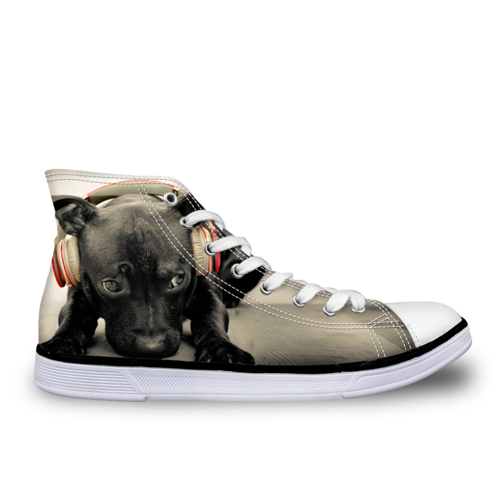 Noisydesigns Golden Retriever printed male casual fashion shoes mans spring lace-up high top canvas Flats Hot Sale Breathable