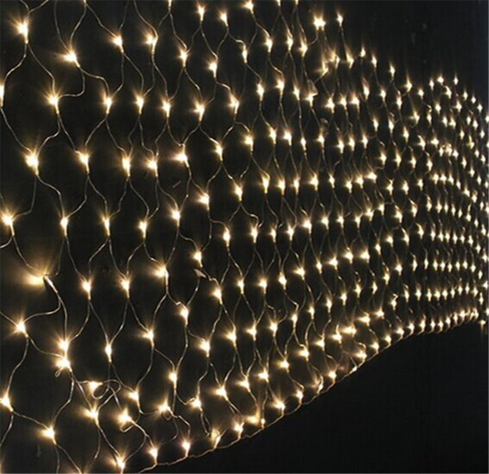 Kmashi net lights 3mx2m 204 led mesh fishing net string for 160 net christmas decoration lights clear