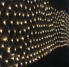 Kmashi Net Lights 3Mx2M 204 LED Mesh Fishing Net String Fairy Twinkle Lighting Outdoor Party Christmas Festival Square Decor EU