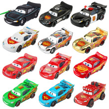 Disney Pixar Cars 2 3 Fabulous Lightning McQueen Black Warrior Sheriff SUV Diecast Metal Toys Model Car Birthday Gift For Kids(China)