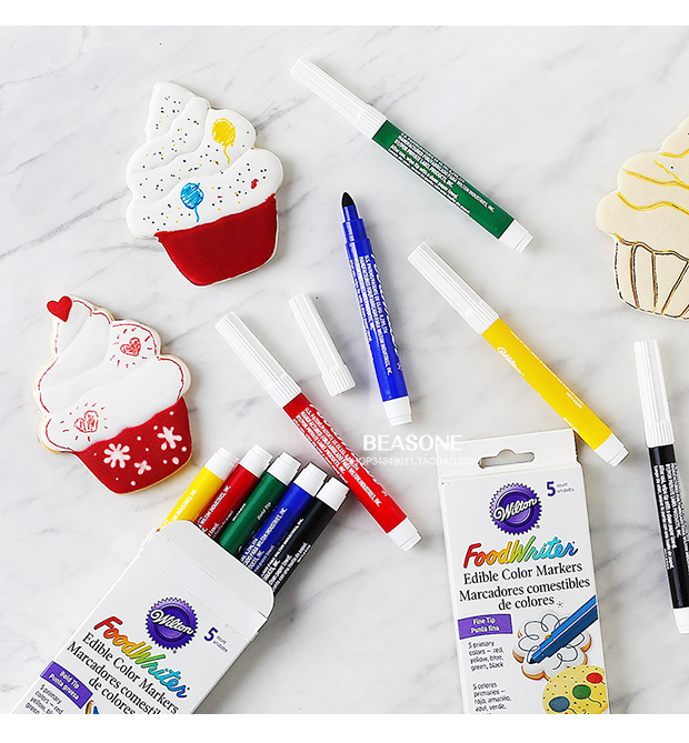 FoodWriter Edible Markers Pens 5 color Set from Wilton 4 Sets to Choose From