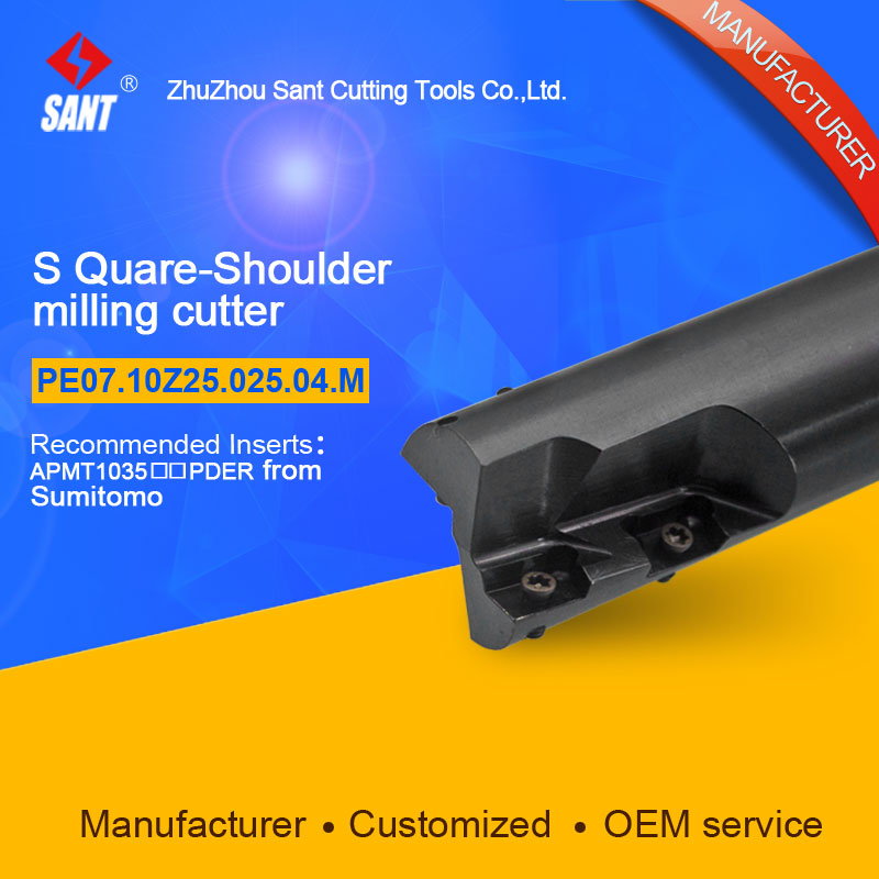 Zhuzhou Sant Tools Indexable Milling cutter PE07.10Z25.025.04.M  with APMT1035 carbide insert selling well at home and abroad  цены