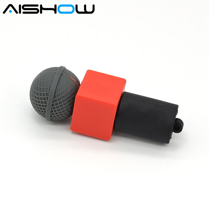Hot Sale the microphone USB Flash drives 64GB 32GB mini pen drive usb flash stick 16GB 8GB 4GB microphone/pendrives best Gift