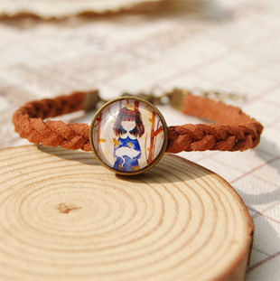 Handmade Eiffel Tower <font><b>Cat</b></font> Girl Printed Glass Cabochon Bracelets Brown Leather Hemp Surfer Chains <font><b>Bronze</b></font> Bracelet for Girls sl037